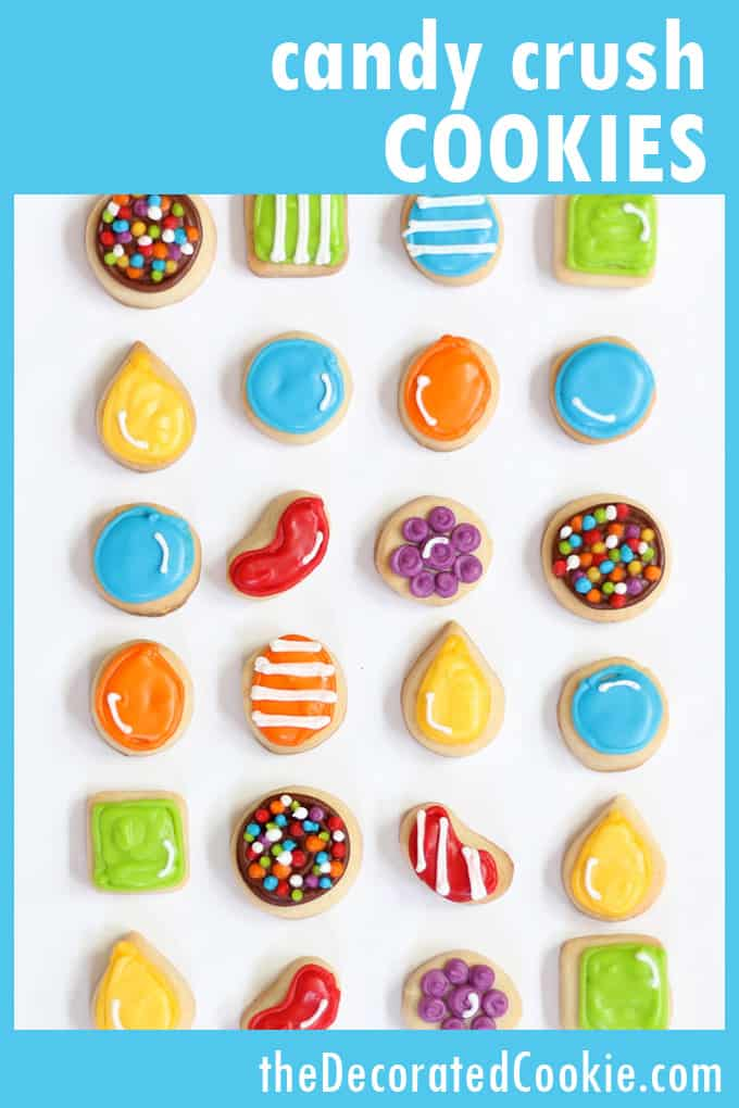 how to decorate candy crush cookies -- video game -- video how-tos #CandyCrush #Cookies #CookieDecorating #VideoGames
