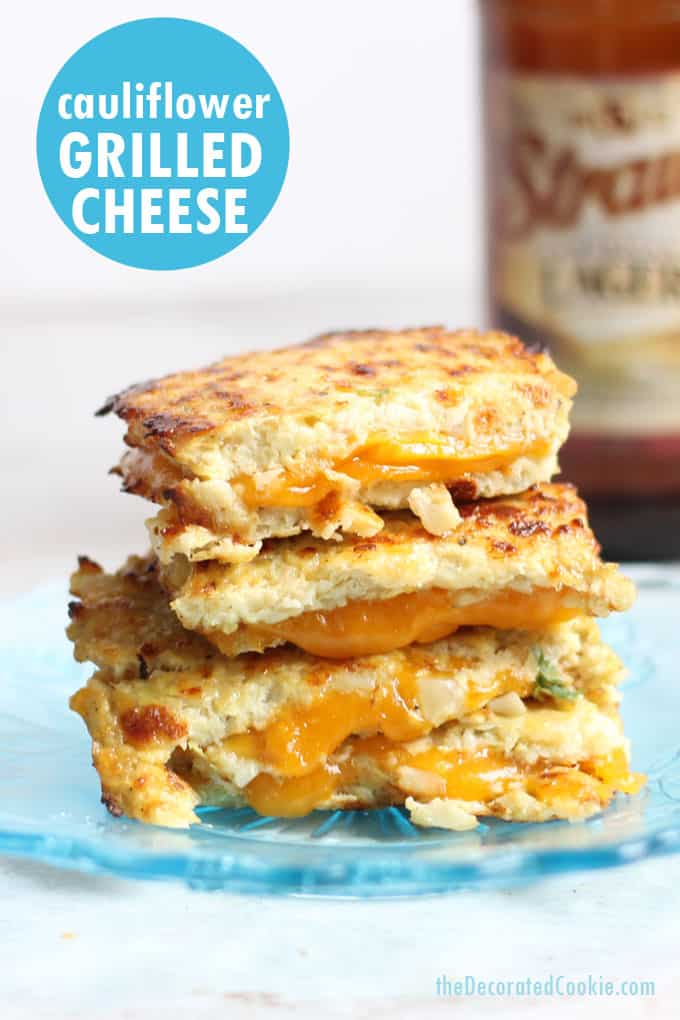 How to make cauliflower grilled cheese #cauliflower #grilledcheese #cauliflowerbread #lowcarb #keto