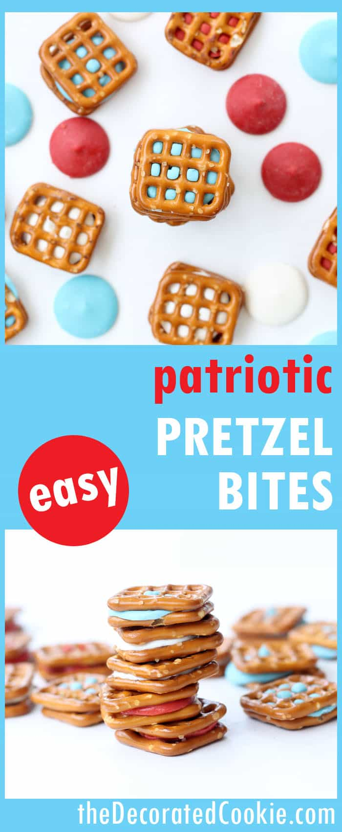Patriotic pretzel bites -- quick and easy last-minute treat for the 4th of July -- video how-tos