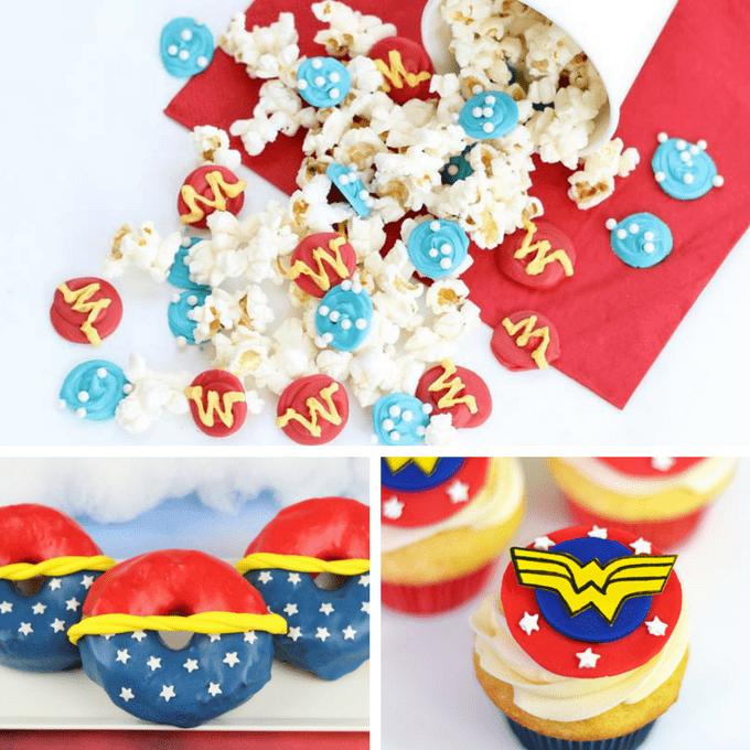 Wonder Woman food ideas -- Wonder Woman party ideas -- superhero --Wonder Woman movie