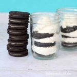 Oreo ice box cake in a jar