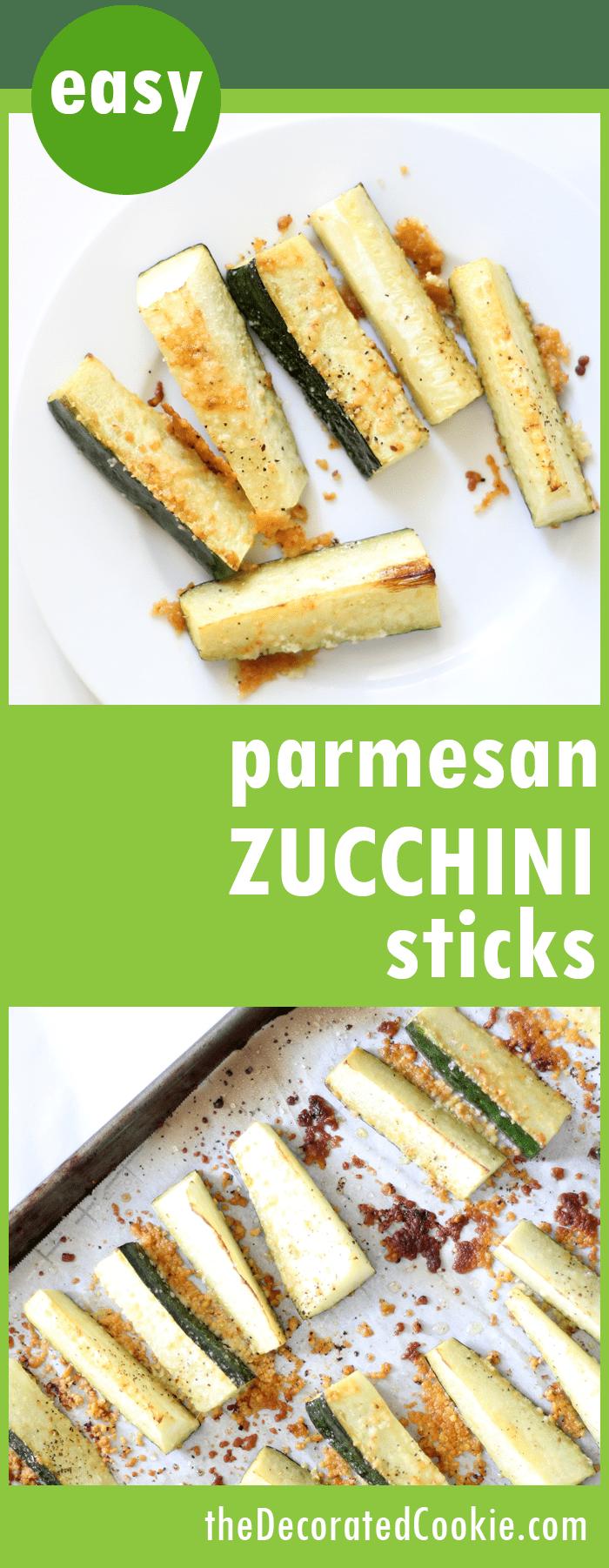 EASY baked Parmesan zucchini sticks -- vegetable side dish idea