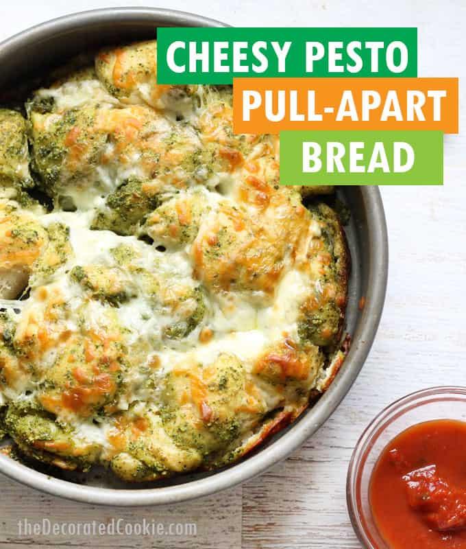 cheesy pesto pull-apart bread