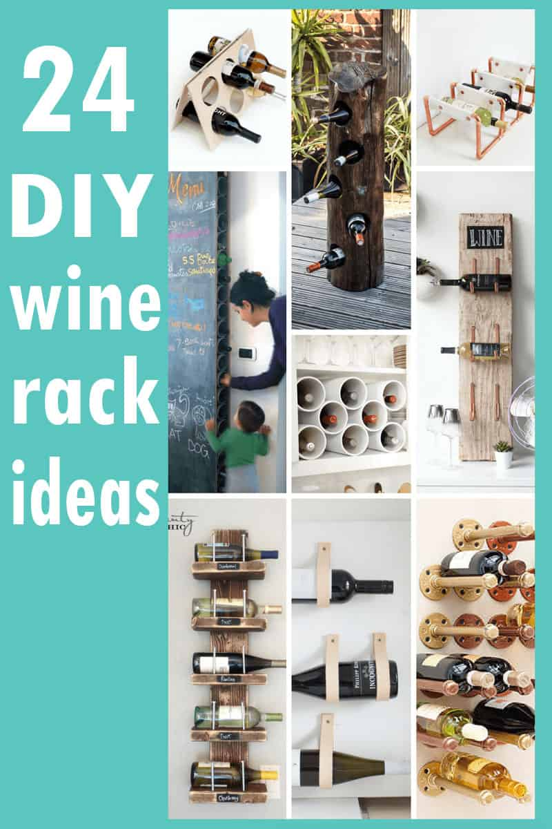 A roundup of 24 awesome DIY wine rack ideas #DIY #winerack