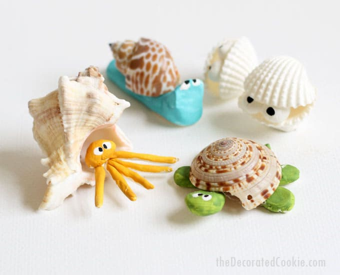 Seashell creatures summer craft idea for kids or adults for Seashell crafts for adults