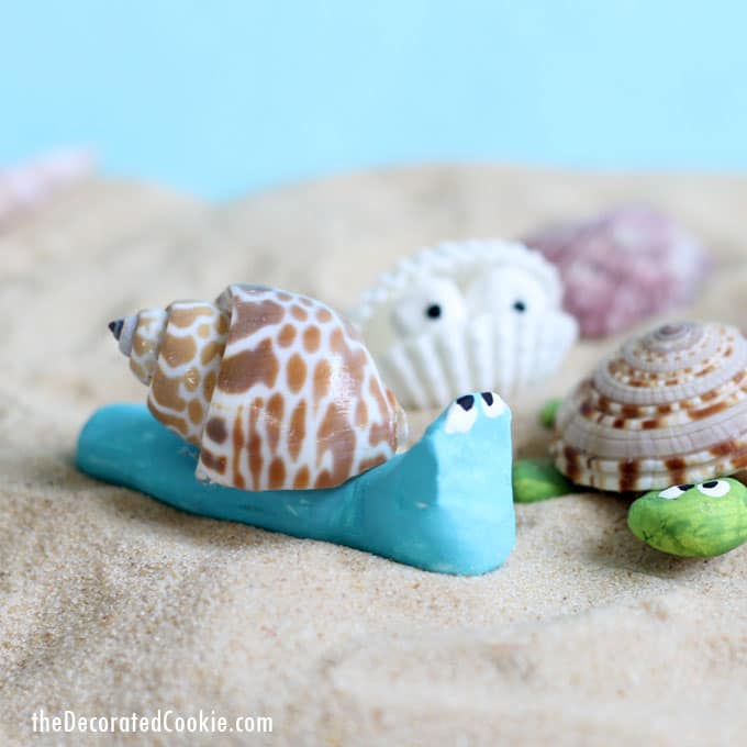 Seashell Creatures Summer Craft Idea For Kids Or Adults