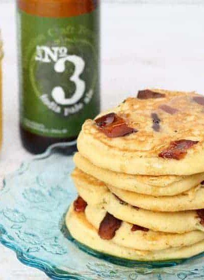 beer and bacon pancakes -- delicious, unusual breakfast idea