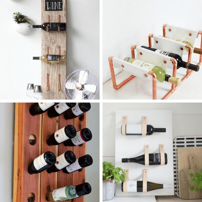 A roundup of 24 awesome DIY wine racks -- home decor ideas