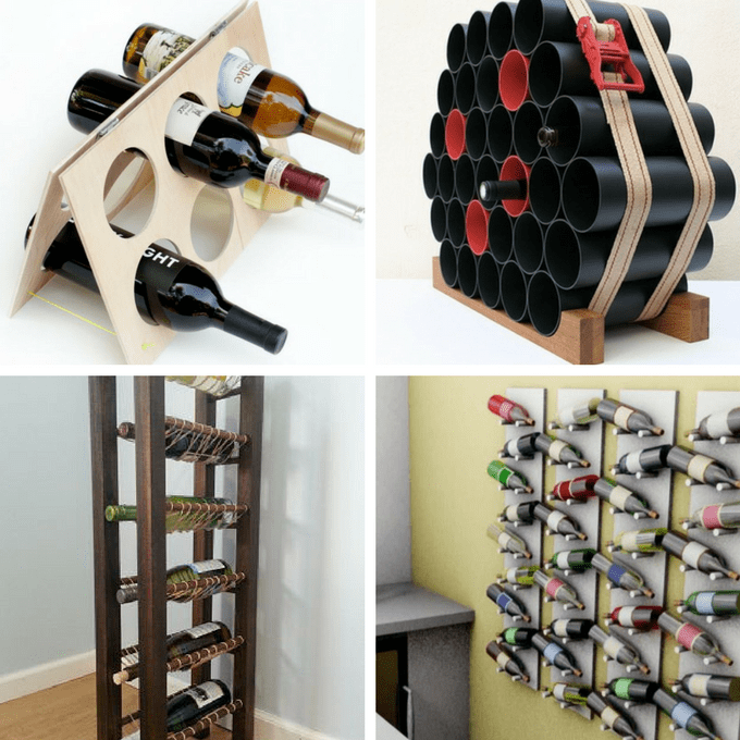 roundup of 24 awesome DIY wine racks you can make -- home decor