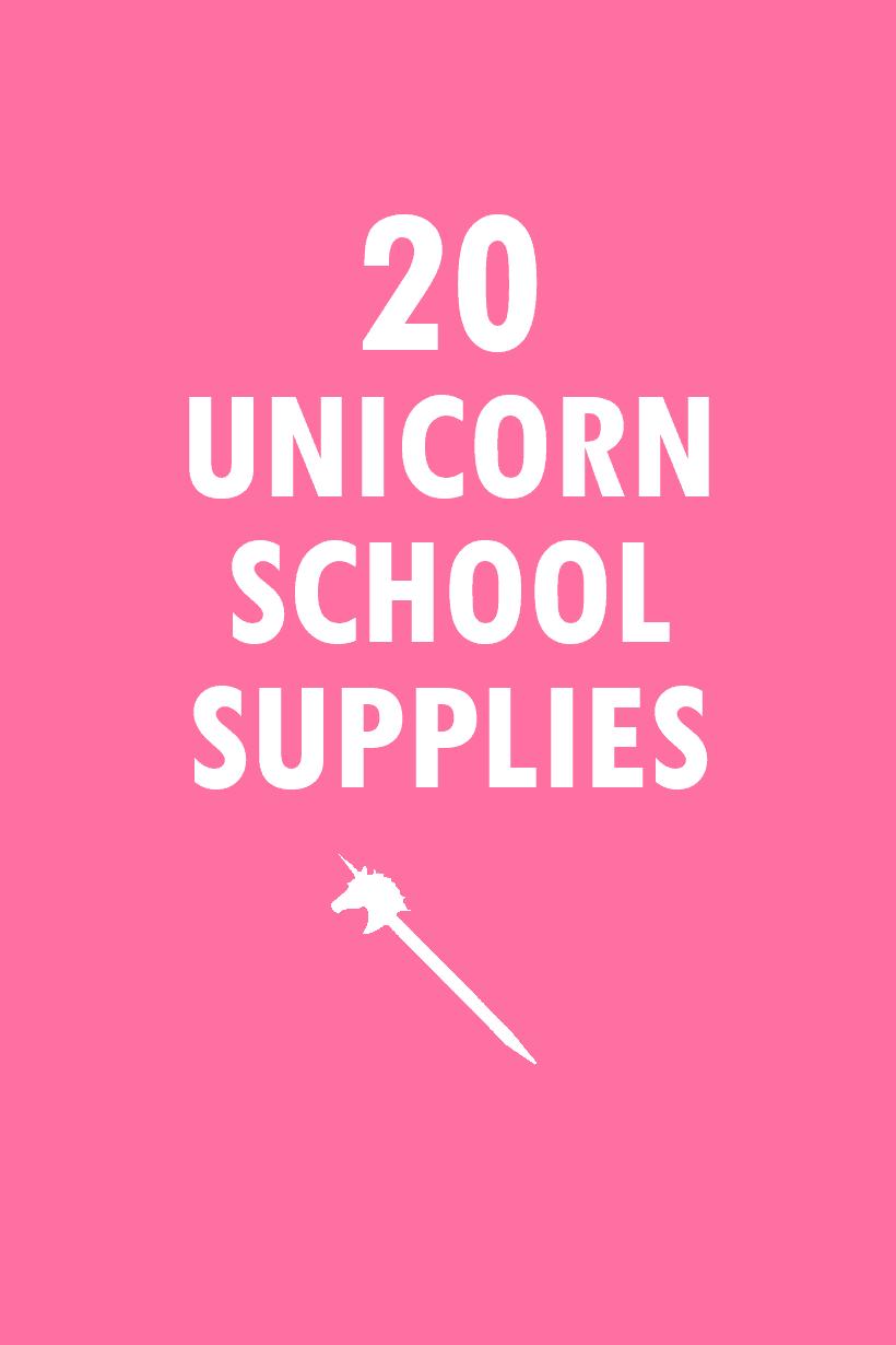 20 unicorn school supplies roundup