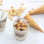 homemade Drumsticks ice cream in a jar -- a copycat version of the store-bought ice cream treat, in a cute little mason jar