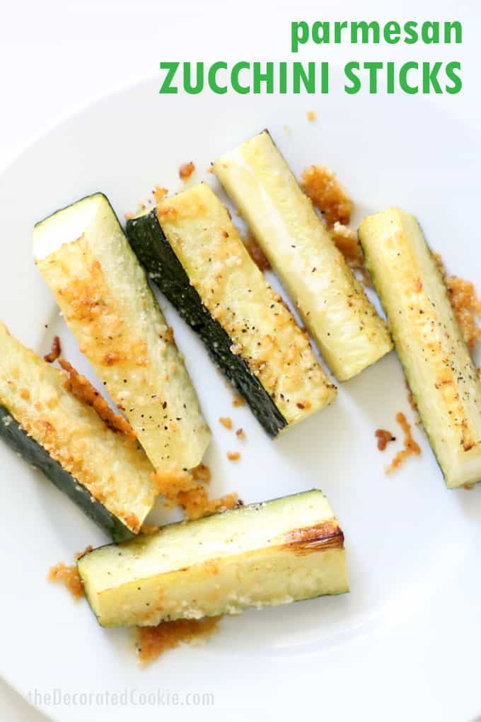 Parmesan zucchini sticks -- quick and easy side dish, appetizer, or snack idea. Healthy, low carb, keto-friendly vegetable recipe.  #Parmesan #Zucchini #ZucchiniSticks #Vegetables #SideDish #Keto #LowCarb #Snack