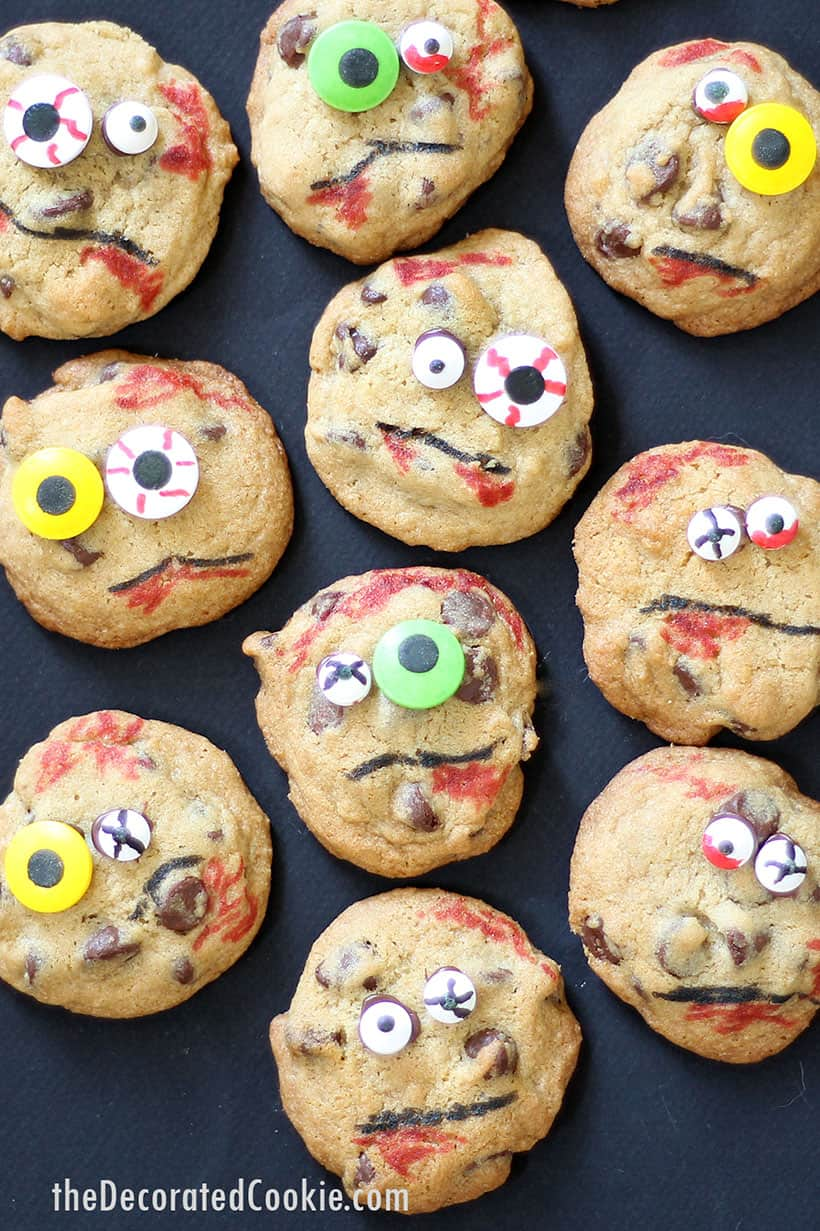 small batch zombie chocolate chip cookies