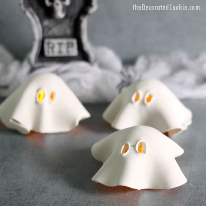 Air Dry Clay Ghost Tea Lights Fun And Easy Halloween