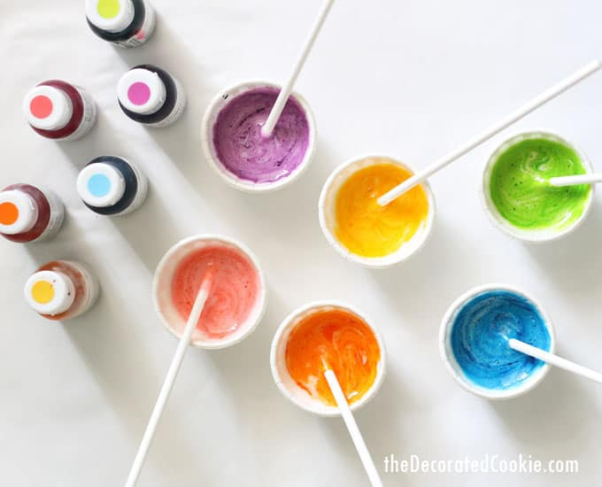 edible marshmallow paint -- fun food craft for kids -- paint on cookies, marshmallows, or paper