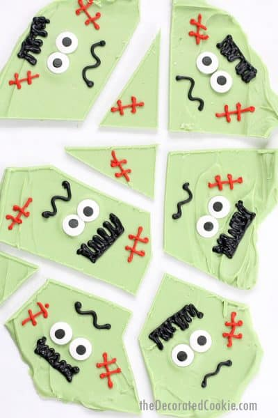 Frankenstein chocolate bark