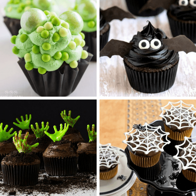 roundup of 40 awesome Halloween cupcake ideas