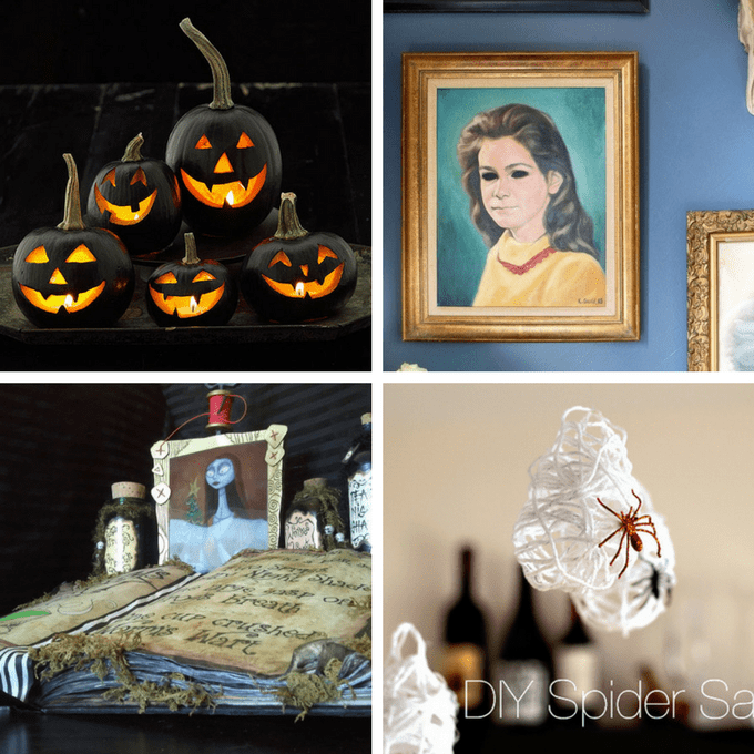 roundup of 20 DIY Haunted House ideas for Halloween
