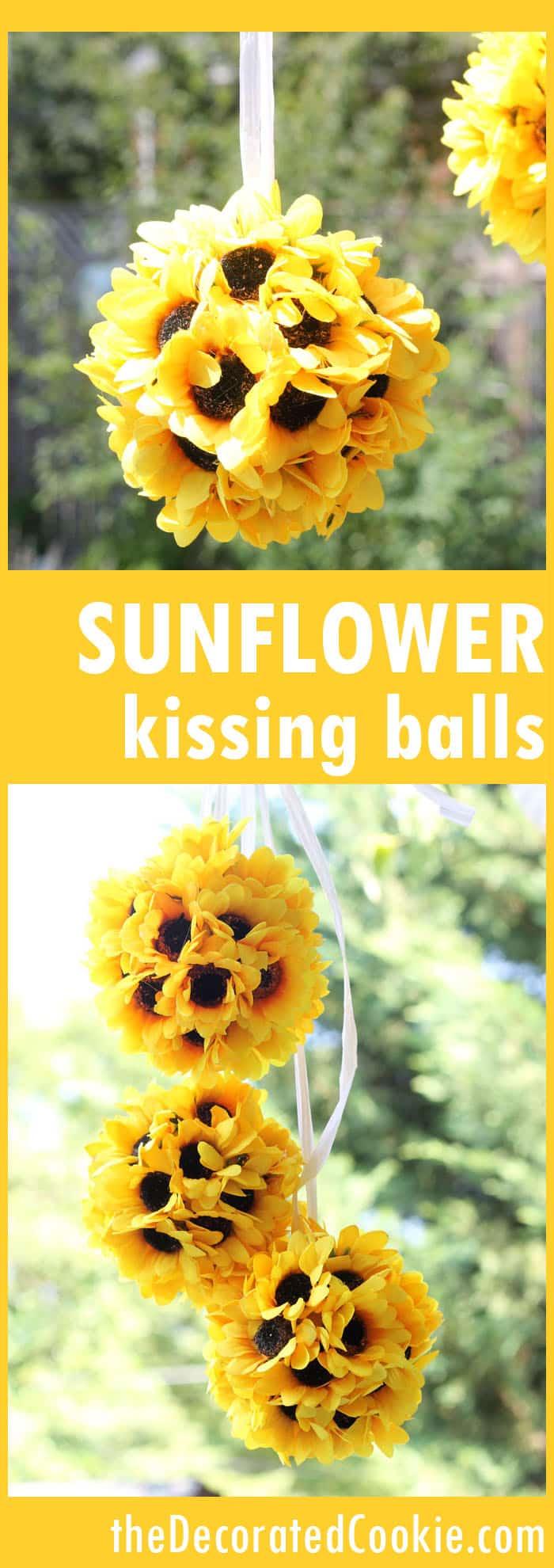 Easy Sunflower Kissing Balls For Diy Fall Home Decor