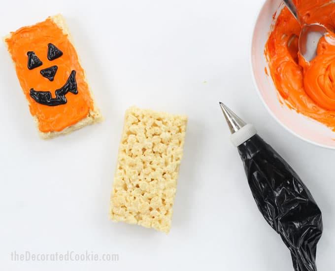 Four easy Halloween Rice Krispie Treats ideas -- fun food ideas
