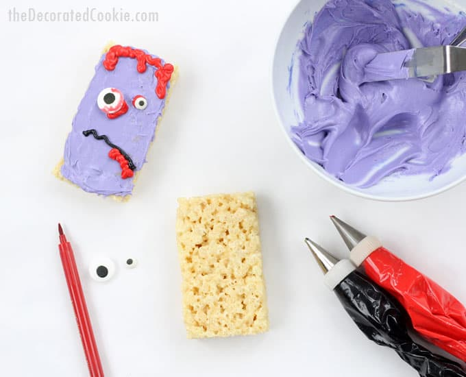 how to make easy Halloween Rice Krispie Treat -- 4 ideas