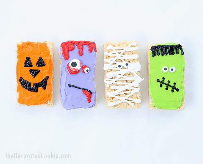 Four easy halloween rice krispie treats ideas fun food for Quick and easy halloween treats to make