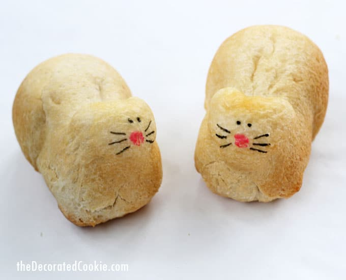 kitty cat bread loaf -- how to make EASY kitty cat bread with silicone molds and store-bought dough