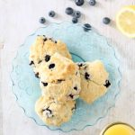 mon blueberry scones -- handmade Starbucks version