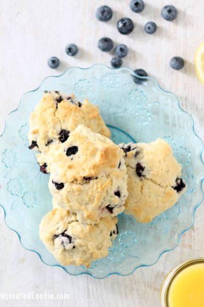 mon blueberry scones -- handmade Starbucks version