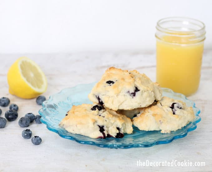 four-ingredient lemon blueberry scones --- copycat Starbucks recipe