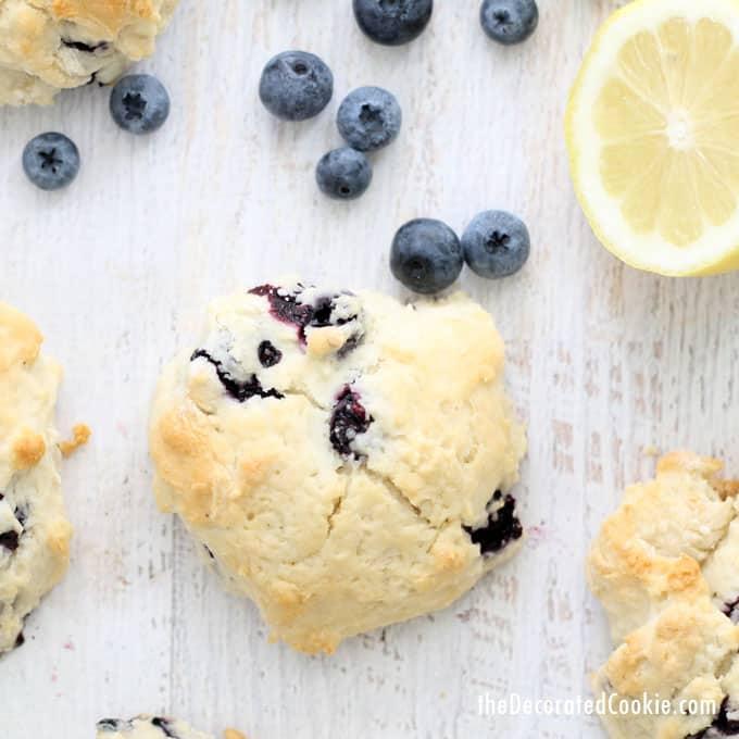 four-ingredient lemon blueberry scones --- copycat Starbucks recipe