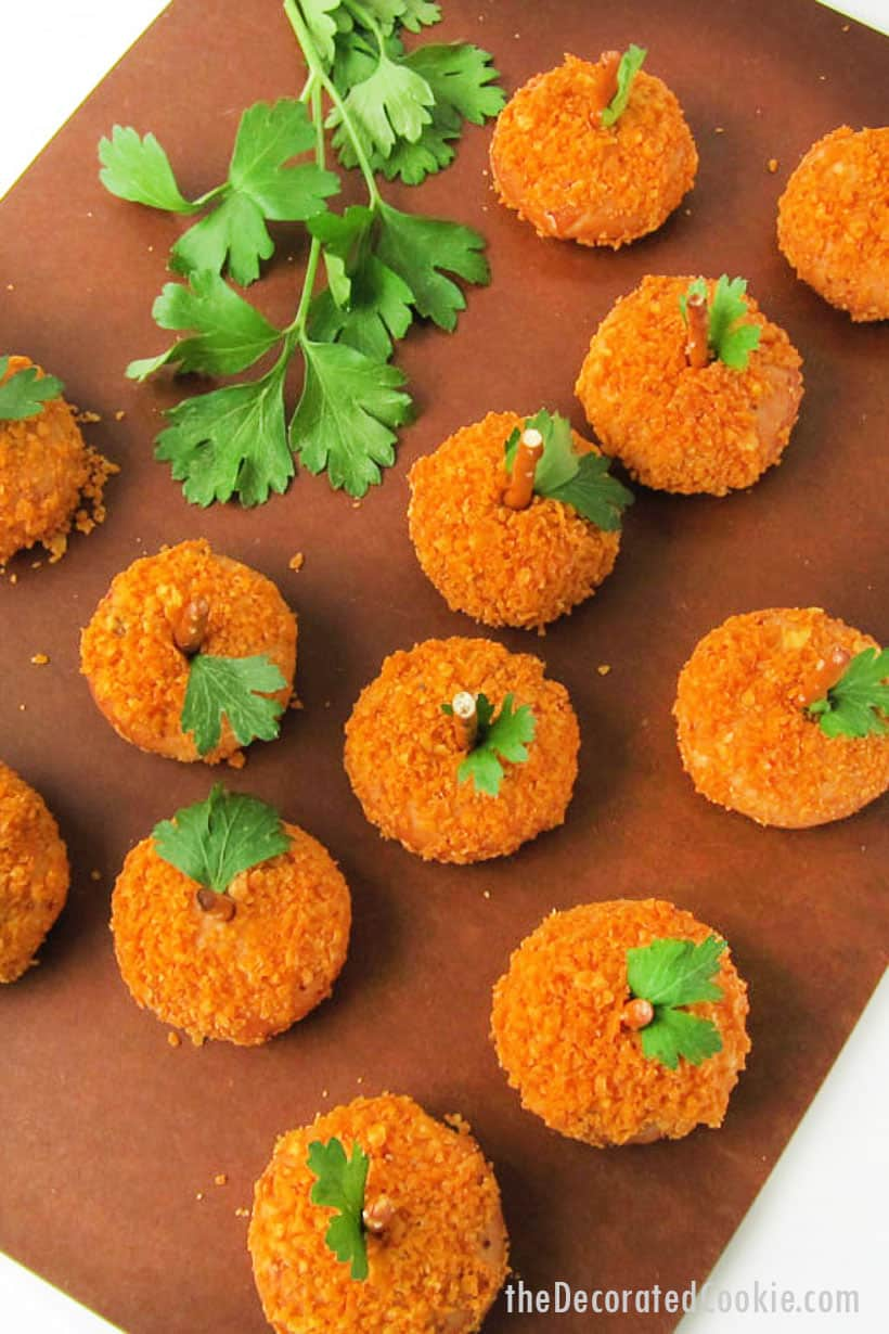 mozzarella bites pumpkins appetizer