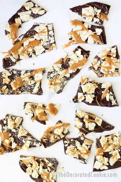 Christmas crack chocolate bark