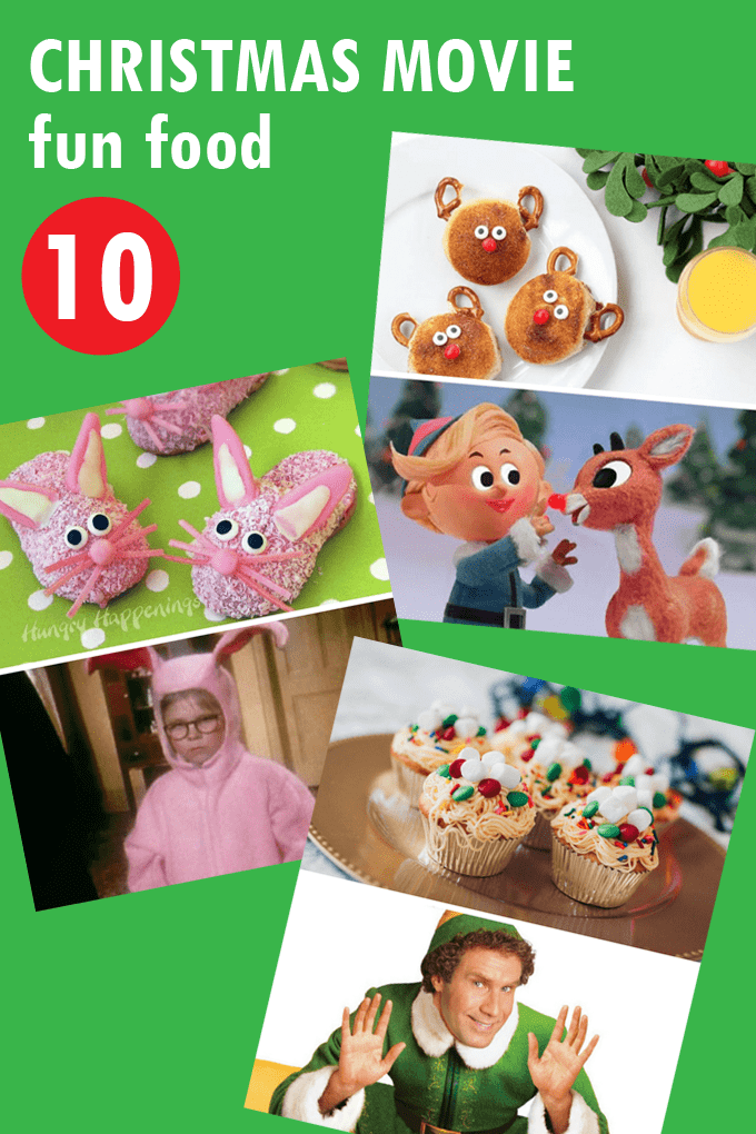 A roundup of fun food ideas paired with classic Christmas movies. Create holiday traditions by baking up these fun food ideas to watch with the movies.