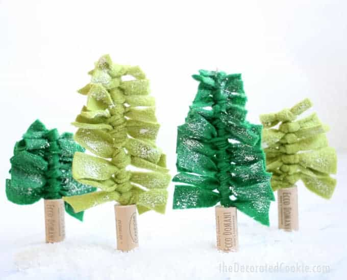easy holiday craft: FELT Christmas tree centerpiece with video how-tos