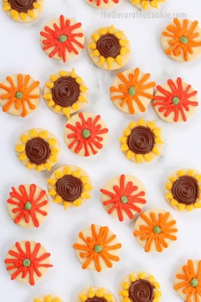 fall flower cookies