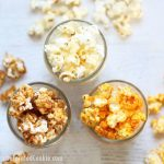 homemade Popcorn Factory popcorn -- a copycat version of buttered, cheddar cheese, and caramel popcorn