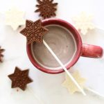 snowflake hot chocolate on a stick