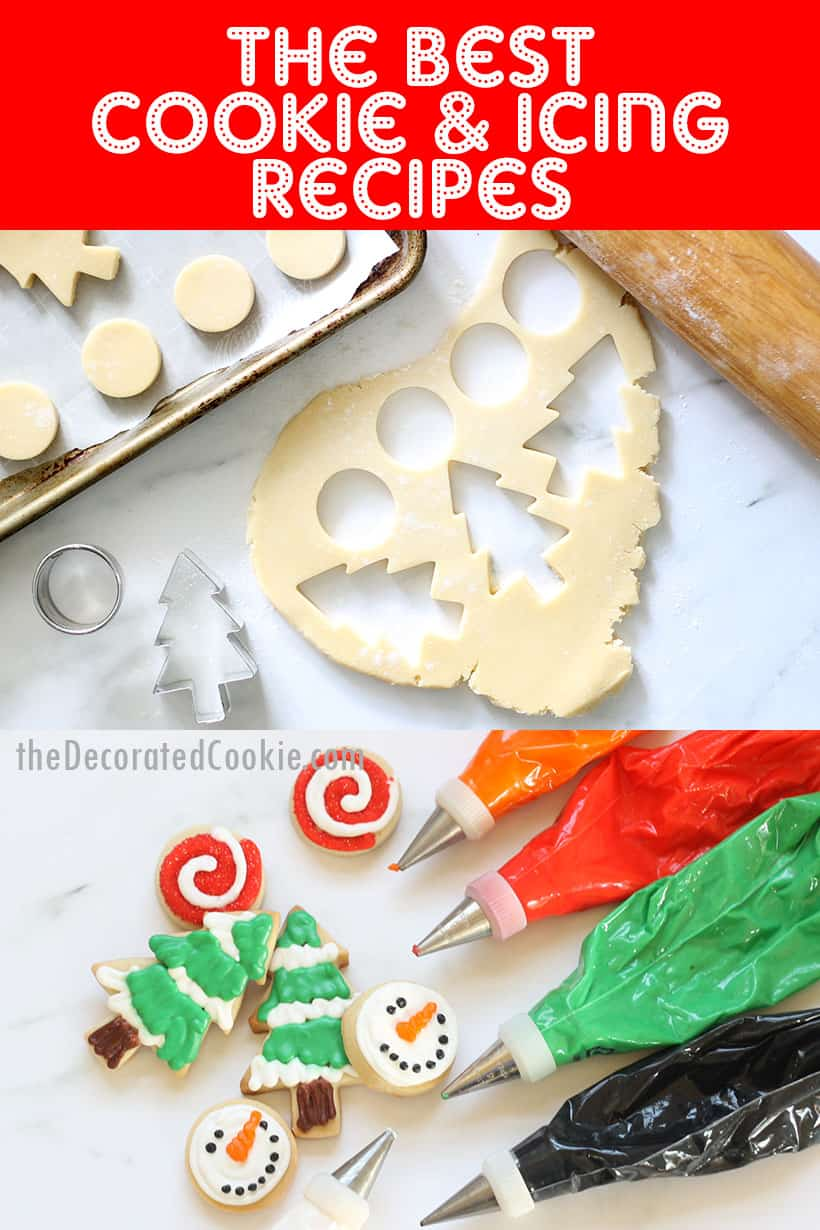 recipes for decorating Christmas cookies
