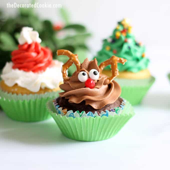 Christmas Cupcake Decorating Ideas Pinterest : Christmas cupcake ideas, four ideas with one decorating ...