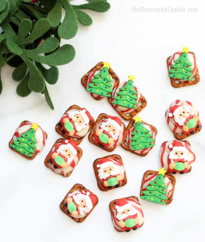 Easy Christmas pretzel treats -- last minute Christmas food gift -- video how-tos