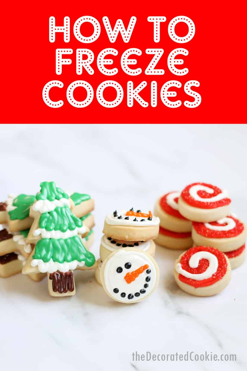 how to freeze decorated Christmas cookies