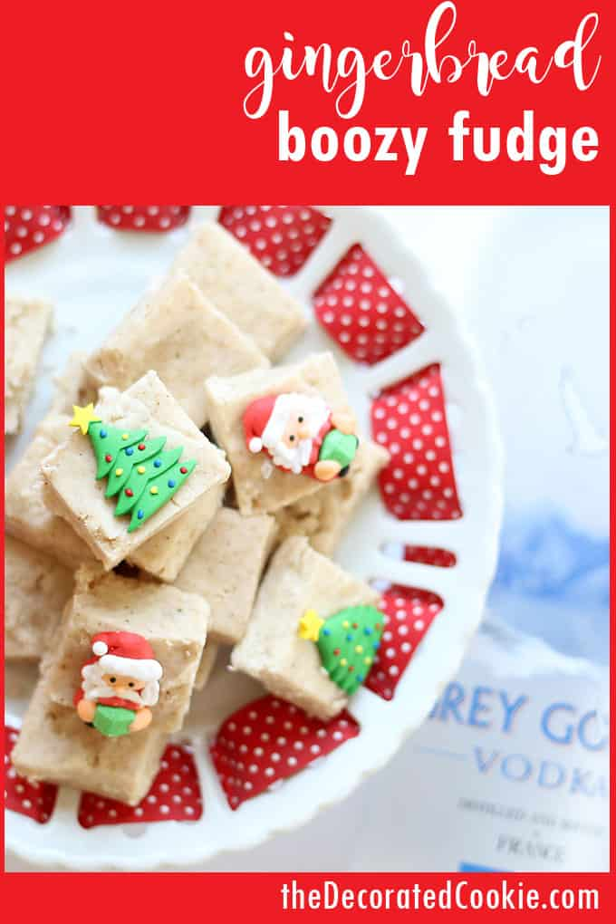 Delicious gingerbread boozy fudge is full of vodka and so easy to whip up. It makes the perfect holiday gift (for grown-ups) if you really want to spread some holiday cheer.