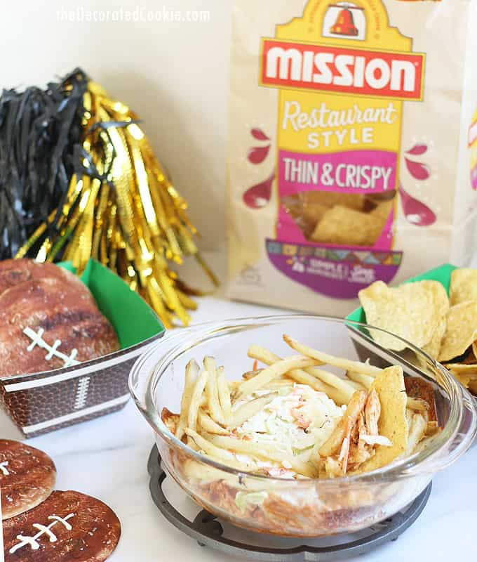 Football tortillas and Make your own home town dip! Mission® Tortillas + Mission® Tortilla Chips -- football viewing party PRIZE PACK #MissionPartyKit #ad
