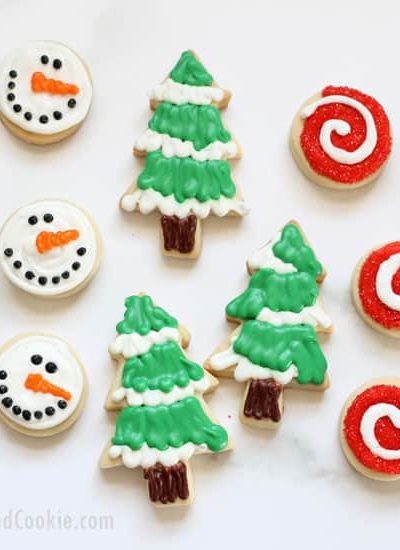Make decorated Christmas cookies with these no-fail recipes for cut-out cookie dough and perfect royal icing. The recipes cut out and bake beautifully without changing shape, and the icing dries well enough for handling, freezing, and shipping, but it tastes delicious. VIDEO how-tos, PRINTABLE recipes. MAKE-AHEAD tips.