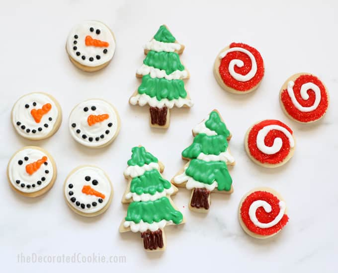 Decorated Christmas Cookies No Fail Cut Out Cookie And Royal Icing