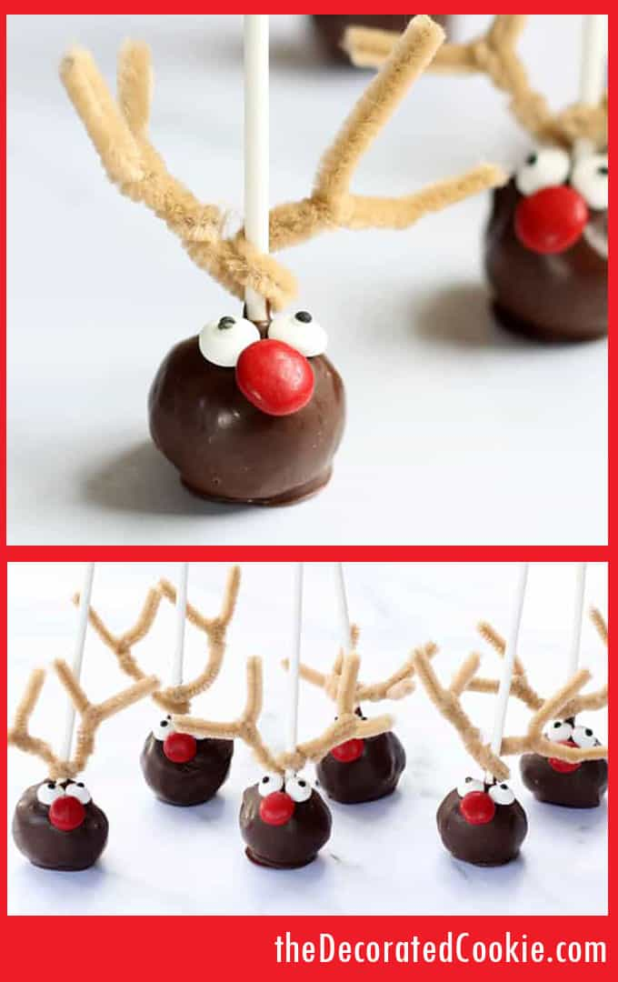 RUDOLPH REINDEER DONUT POPS: For a fraction of the cost, you can make the Williams-Sonoma reindeer cake pops at home. A cute and easy Christmas treat idea.