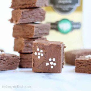 3-ingredient elderflower boozy fudge is a liquor-filled, chocolate dessert, just for grown-ups