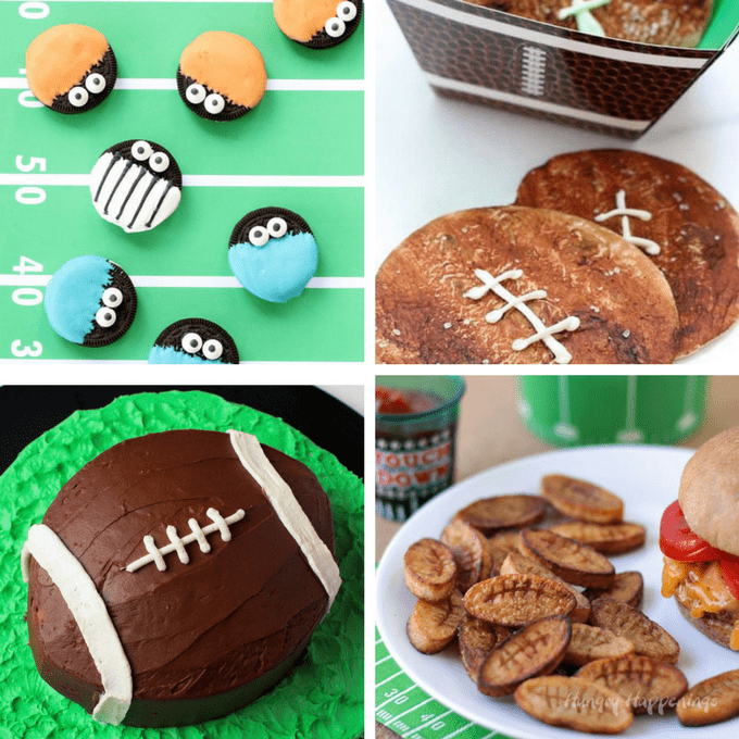 A roundup of 25 football food ideas, or, fun football-themed foods to serve at your Super Bowl party.