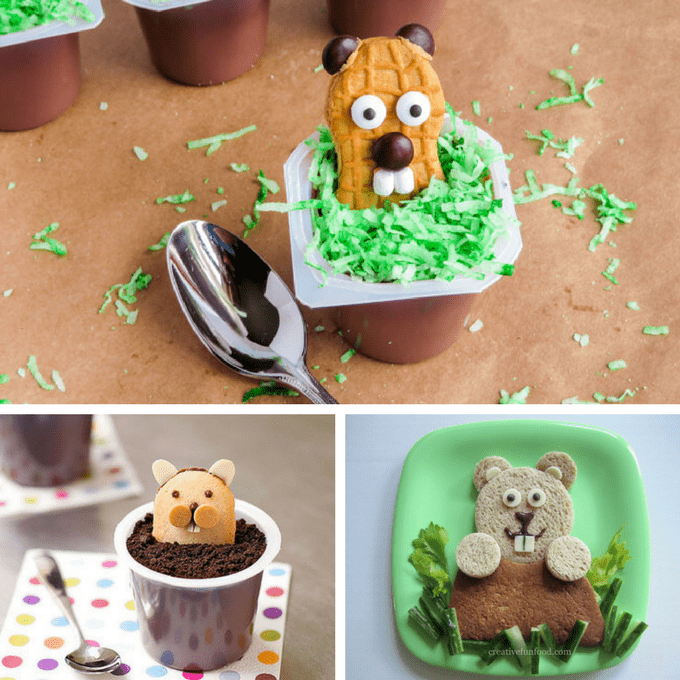 A roundup of 12 Groundhog Day fun food ideas to celebrate with kids. Great ideas for holiday classroom treats.